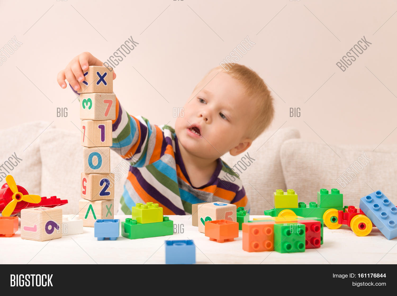 Portrait Child Playing Image Photo Free Trial Bigstock