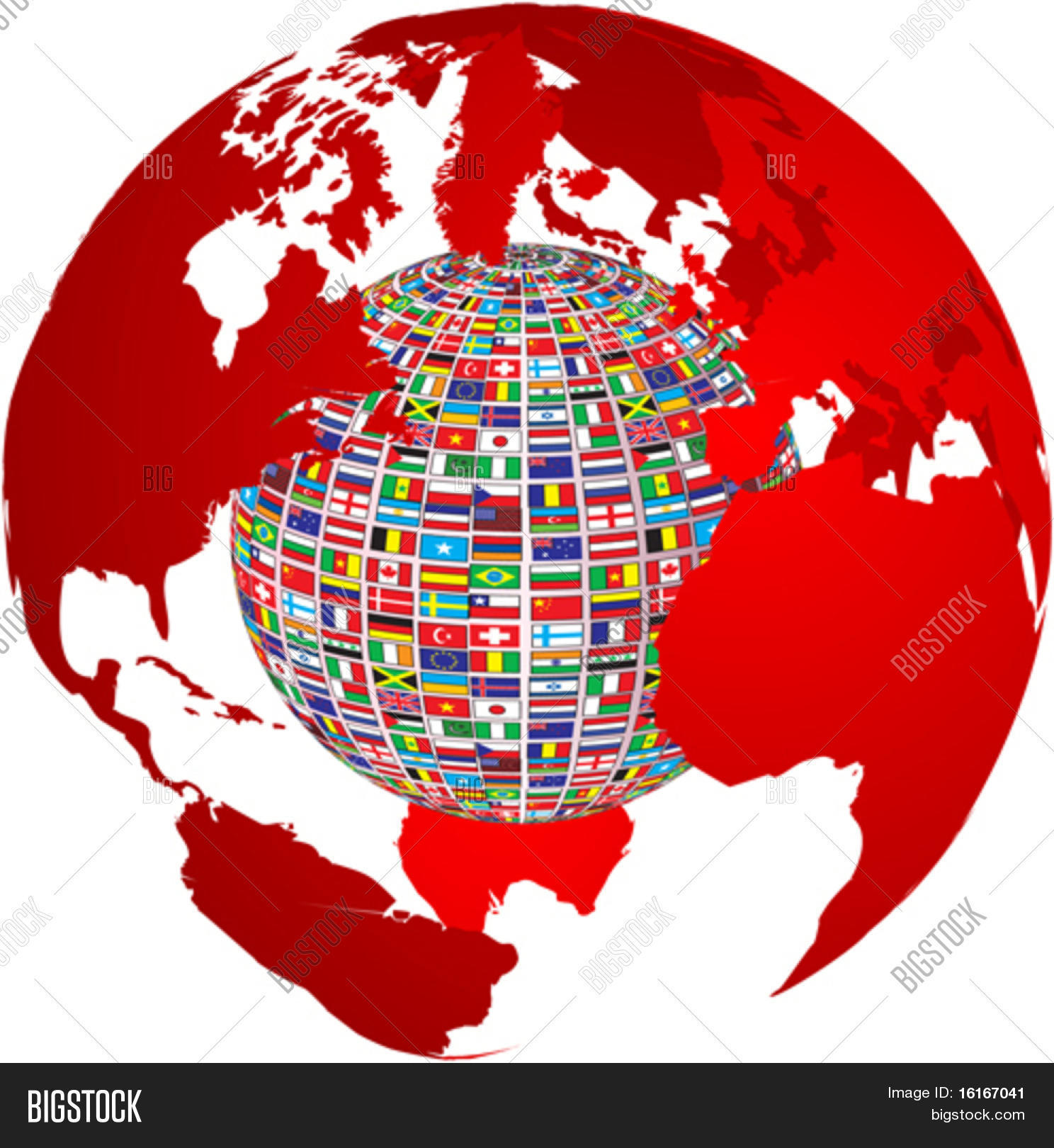 Transparency world map country vector photo bigstock transparency world map with country flags on it gumiabroncs Gallery