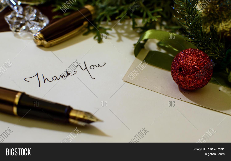 Christmas Card Thank Image Photo Free Trial Bigstock