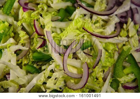 Background of the dietary salad with chinese cabbage
