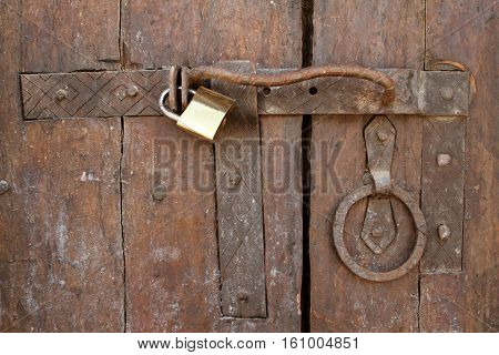 A Safety lock with a locked door