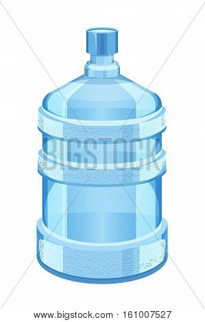 cooler water bottle isolated on white vector illustration. Clean and fresh water