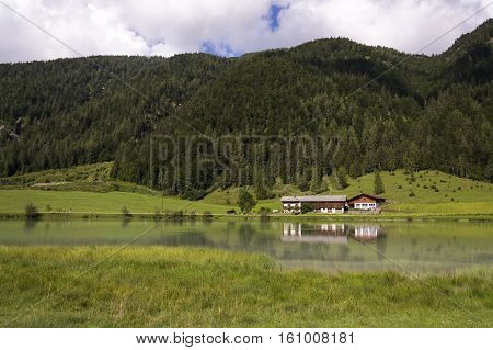 Lake Pillersee With Farmhouse In Sankt Ulrich Am Pillersee, Austria