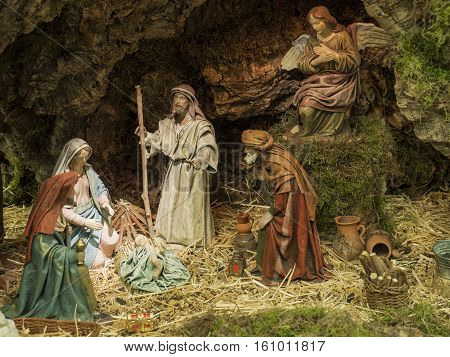 Christmas birth of the child portal God of Belen and the Kings of the East