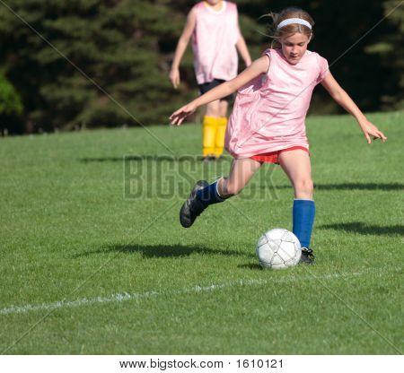 Girl On Soccer Field 24