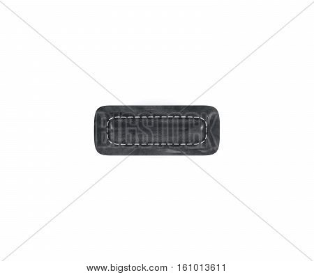 Leather Black Texture Letter Digit Minus Subtraction Sing Mark