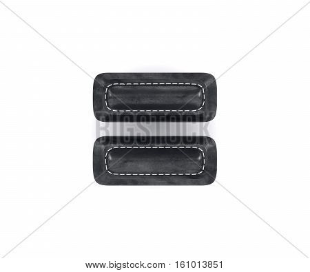 Leather Black Texture Letter Digit Equal Sum Sing Mark
