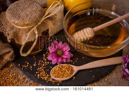 sweet natural honey and pollen granule for immunity