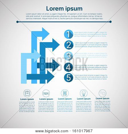 Graph Set Finance Arrows Infographic Icon Colorful Financial Business Chart Flat Vector Illustration