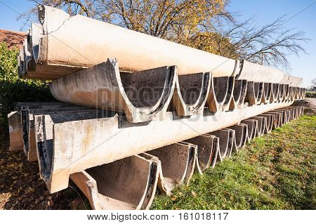 Precast Concrete Elements For Irrigation Channels To Agriculture.