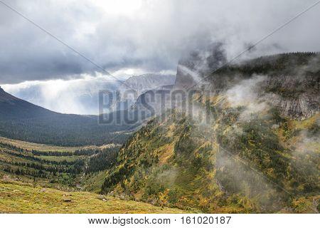 Autumn Mountain Landcape
