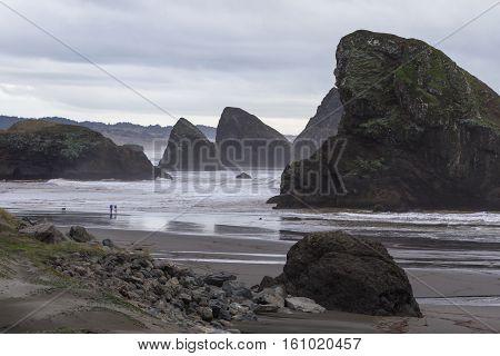 Dramatic Coastline In Southern Oregon