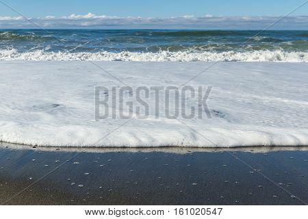 Waves Crashing On The Beach