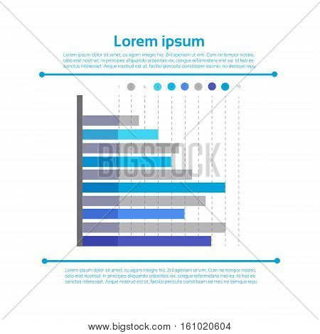 Graph Set Finance Bar Infographic Icon Colorful Financial Business Chart Flat Vector Illustration