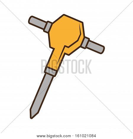 jackhammer electric tool construction vector illustration eps 10