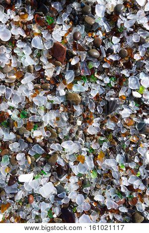 Polished Sea Glass Background