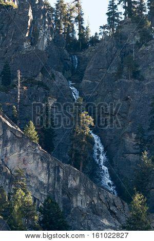 Frozen Waterfall In Yosemite