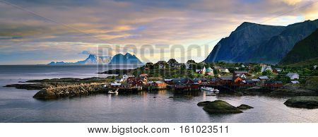 The fishing village is located in the Lofoten islands in the norther part of Norway.