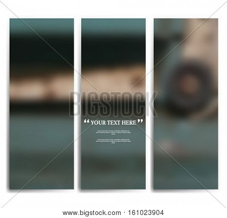 set of three blurred abstract background template for your report, design, illustration, project concept. eps10 vector