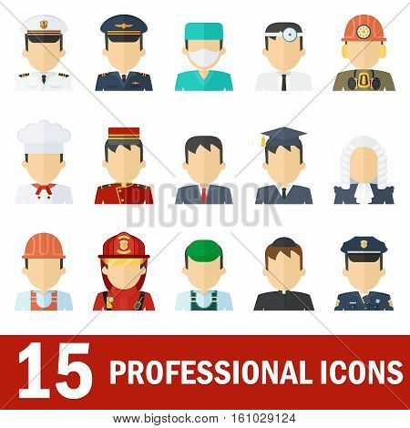 Man Professional Icons White