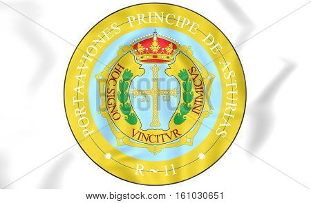 Principality Of Asturias Coat Of Arms, Spain. 3D Illustration.