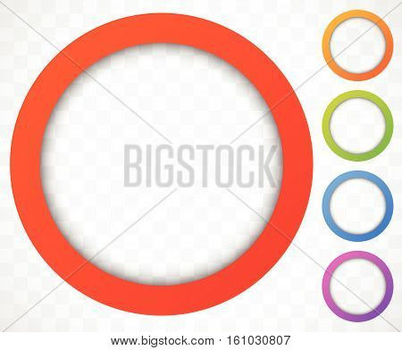 Circle Icon. Colorful Icon Background. Abstract Lens Element