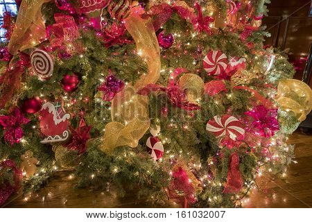 Beautiful Christmas Lights Inside Of Mission Inn