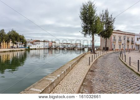 Streets over the river in the town of Tavira.