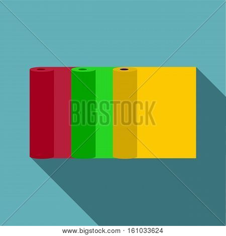 Rolls of paper icon. Flat illustration of rolls of paper vector icon for web design