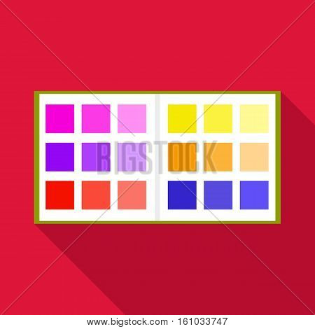 Color booklet icon. Flat illustration of color booklet vector icon for web design