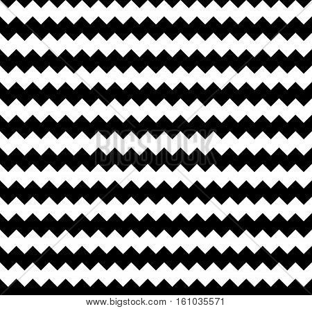Edgy Seamlessly Repeatable Zig-zag Pattern. Abstract Monochrome Background