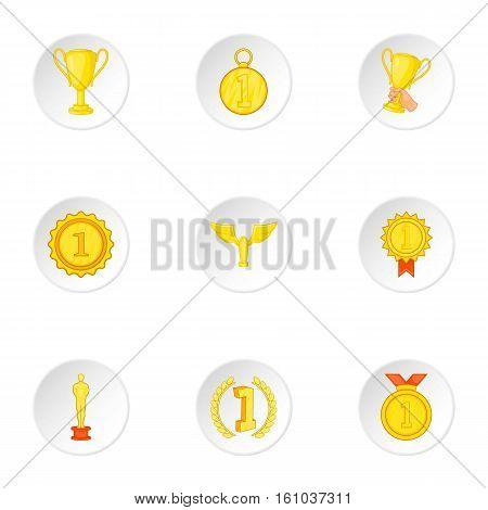 Championship icons set. Cartoon illustration of 9 championship vector icons for web
