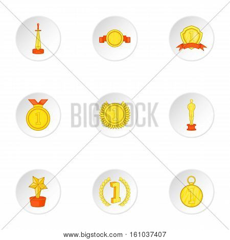 Competition icons set. Cartoon illustration of 9 competition vector icons for web
