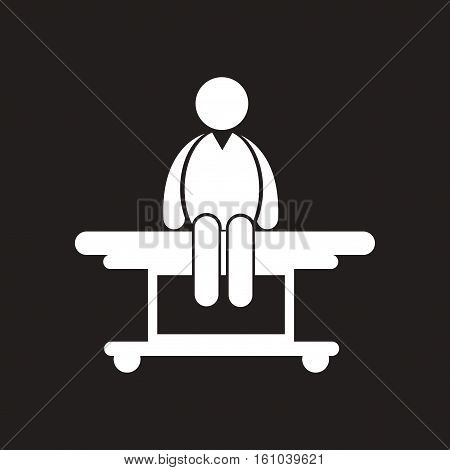 stylish black and white iconman on stretcher Medical