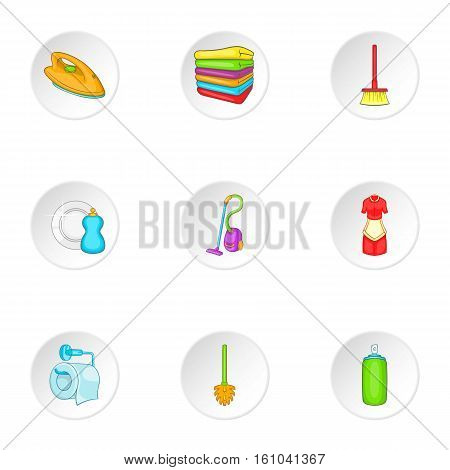 Sanitary day icons set. Cartoon illustration of 9 sanitary day vector icons for web