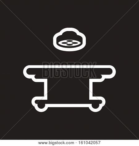 stylish black and white icon operating table