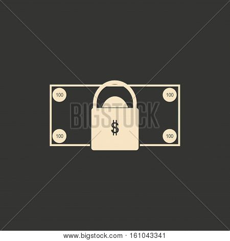Flat in black and white money lock