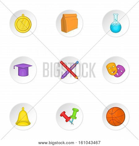 Education icons set. Cartoon illustration of 9 education vector icons for web