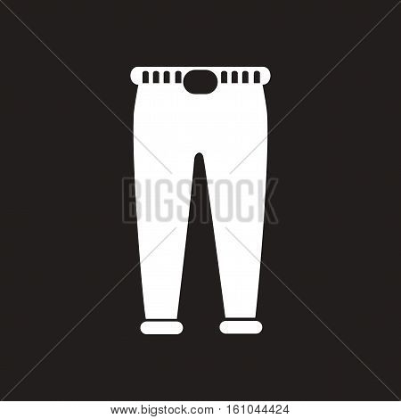 Flat icon in black and white  men trousers