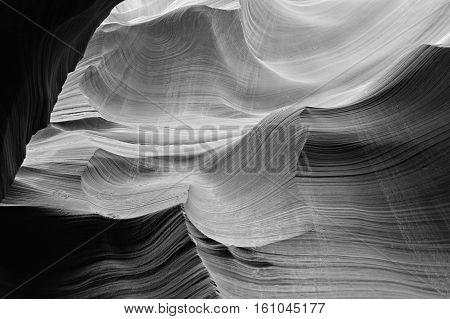 Antelope Caves in the BW. Arizona. USA