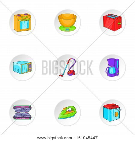 Technique icons set. Cartoon illustration of 9 technique vector icons for web