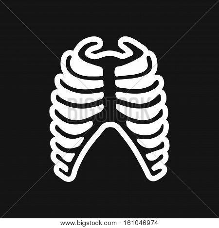 stylish black and white icon human rib