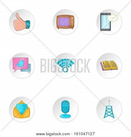 Headline icons set. Cartoon illustration of 9 headline vector icons for web