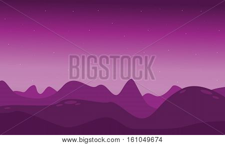 Lifeless landscape with mountain vector illustration collection