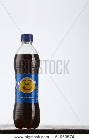 Kuala Lumpur, Malaysia 6th December 2016,Pepsi soft drink. Pepsi is a carbonated soft drink produced and manufactured by PepsiCo Inc. an American multinational food and beverage company.
