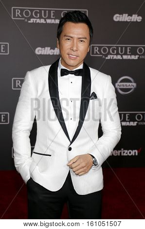 Donnie Yen at the World premiere of 'Rogue One: A Star Wars Story' held at the Pantages Theatre in Hollywood, USA on December 10, 2016.