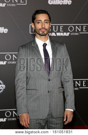 Riz Ahmed at the World premiere of 'Rogue One: A Star Wars Story' held at the Pantages Theatre in Hollywood, USA on December 10, 2016.