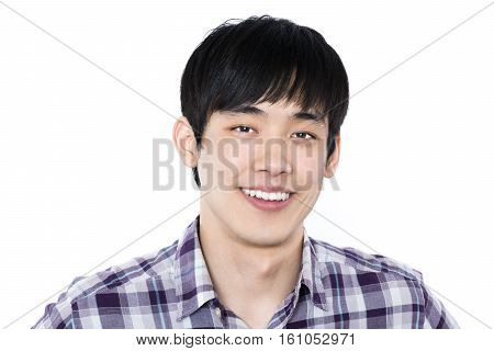 20s asian male youth studio portrait - isolated