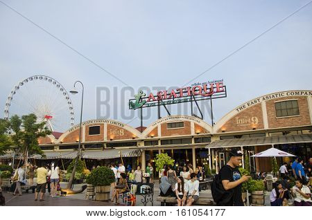 asiatique the riverfront bangkok thailand on 6 April 2014