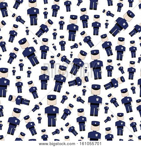 Background simple cartoon blue funny cute police.